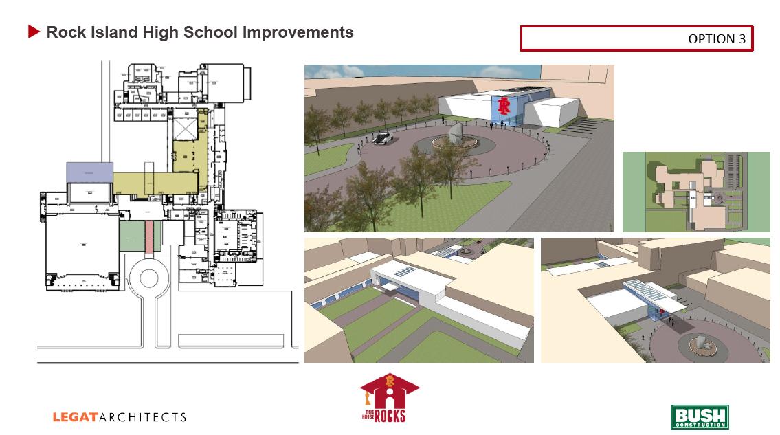 Rock Island High School preliminary design option 3