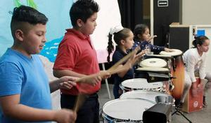 Students on Drums 1
