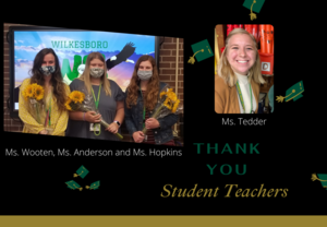 Thank you to our student teachers
