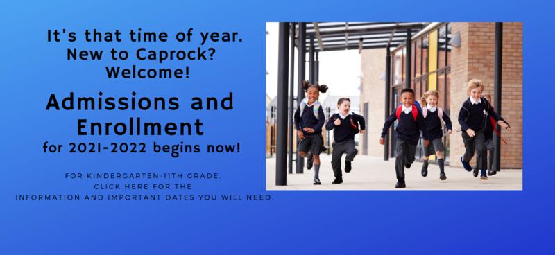 Admission and Enrollment begin.