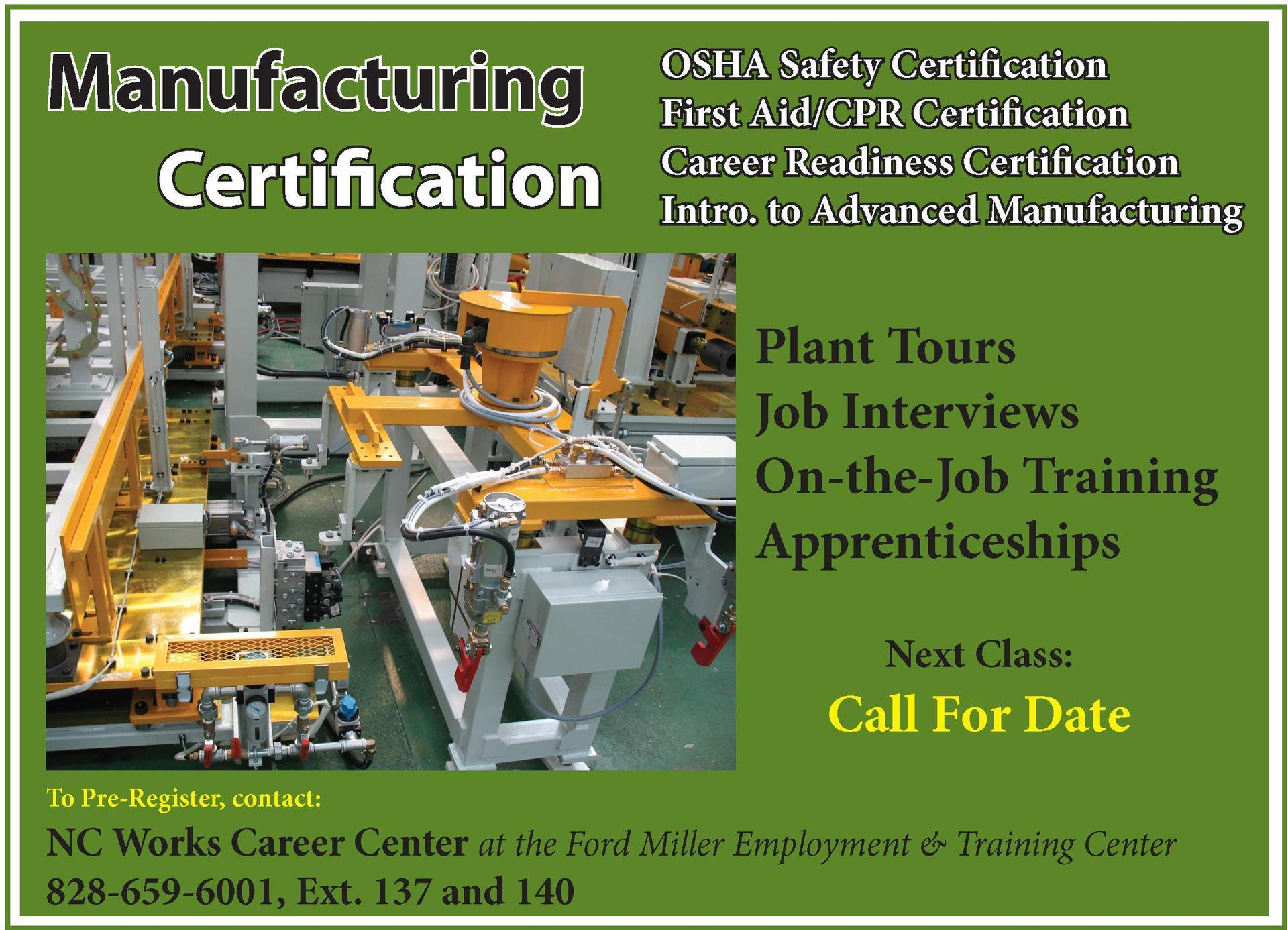 mfg certification