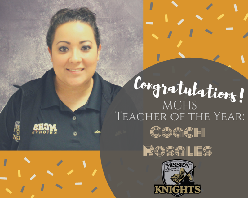 Coach Rosales is MCHS Teacher of the Year for 2019! Featured Photo