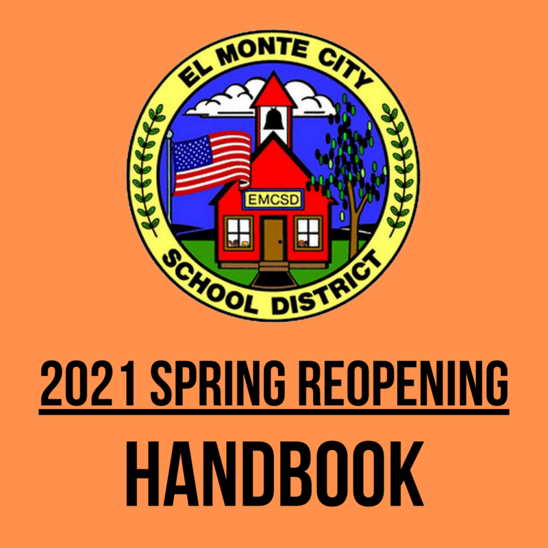 EMCSD 2021 Spring Reopening Handbook graphic