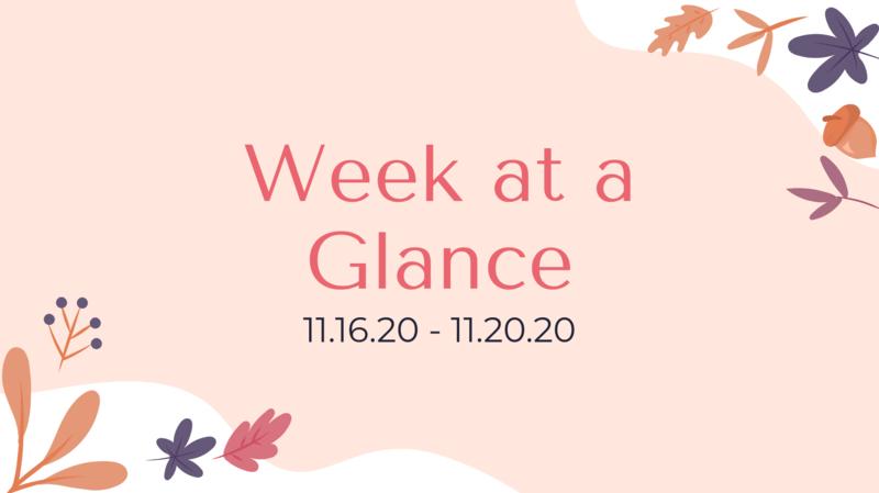 Bulldog Week at a Glance 11/16- 11/20 Featured Photo