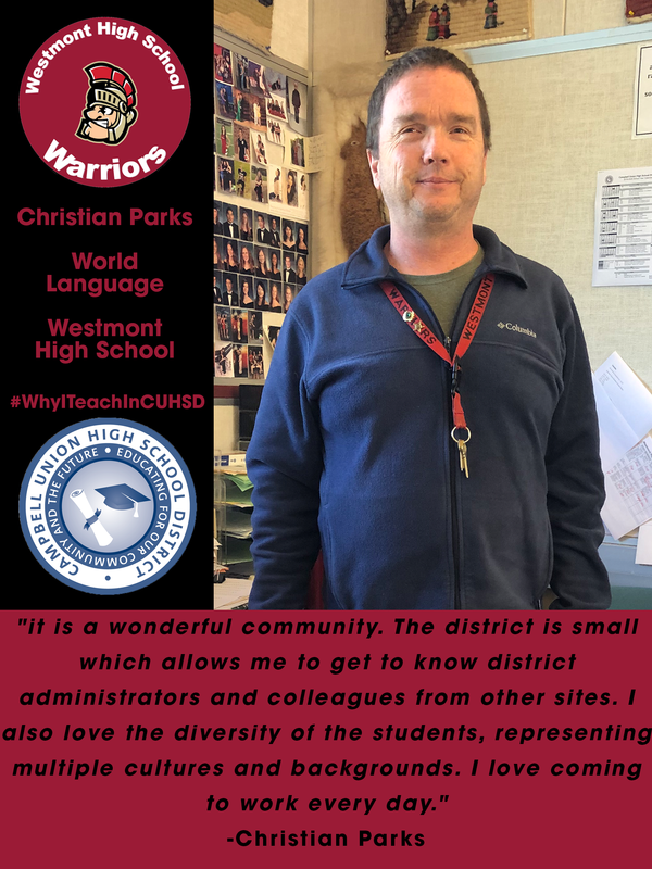 westmont high school teacher christian parks