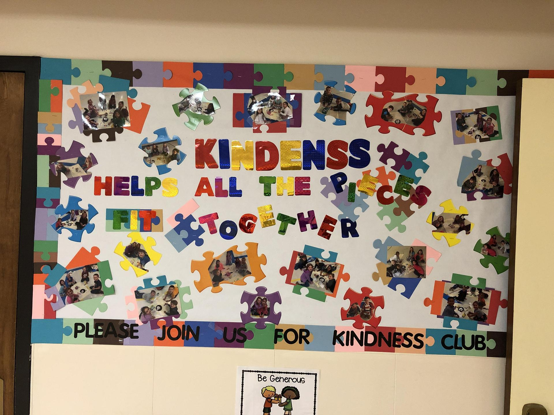 Kindness Club Bulletin Board