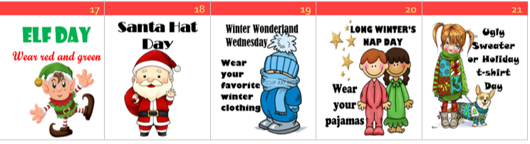 Holiday Spirit Week - Dec. 17th - 21st Featured Photo
