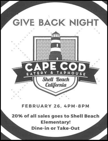 Cape Cod give back night