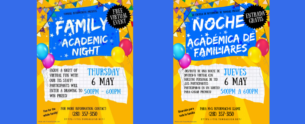 Family Academic Night Is May 6th