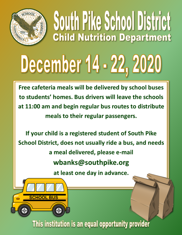 SPSD Child Nutrition Announcement