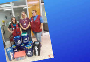 Lowes Employees Present Grant Funds to C.B. Eller