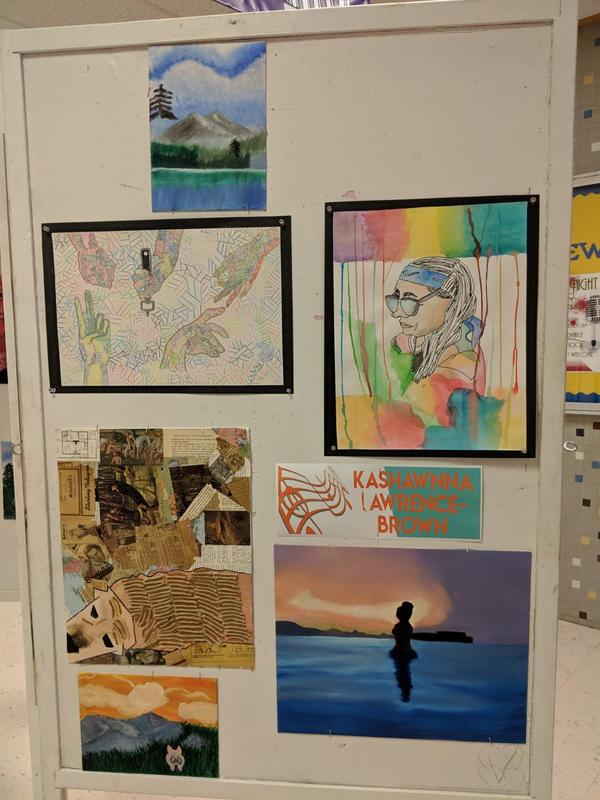 artwork of a culinary student chef on display at the event