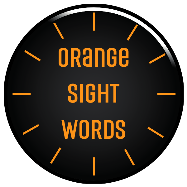 Orange Sight Words