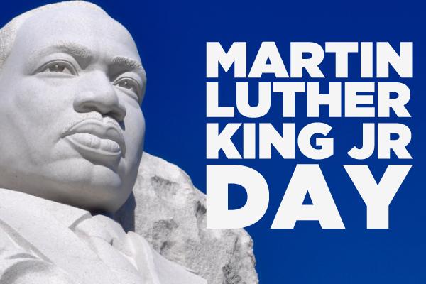 Image of MLK Jr in stone