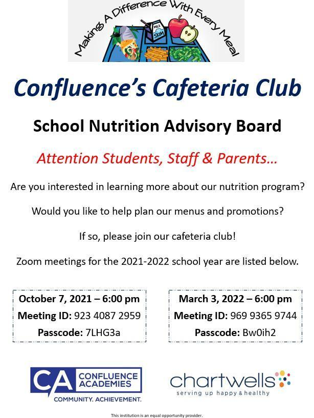 Join Our School Nutrition Advisory Board!