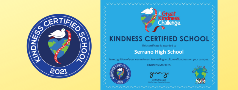 Kindness Certified School Seal and Certificate Featured Photo