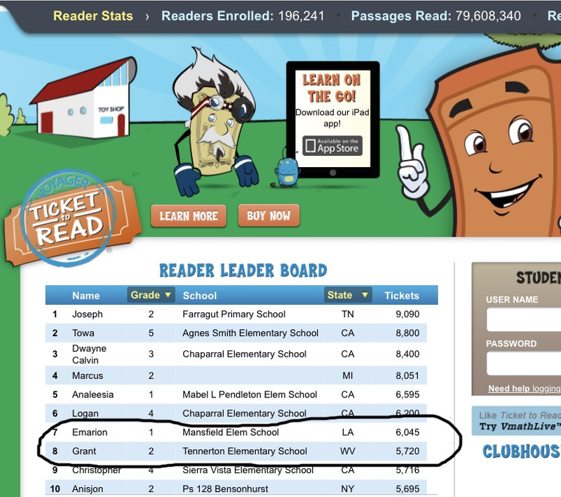 Ticket to Read Leaderboard