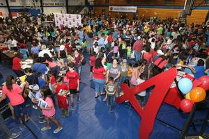 Edinburg CISD Back to School Bash draws more than 3,000 students and their families, which was held at South Middle School gymnasium in Edinburg.