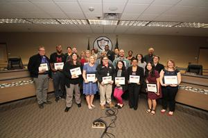February Teachers of the Month along with MISD Board