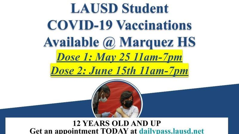 Covid Vaccines Ages 12+ Available at Marquez SH! Thumbnail Image