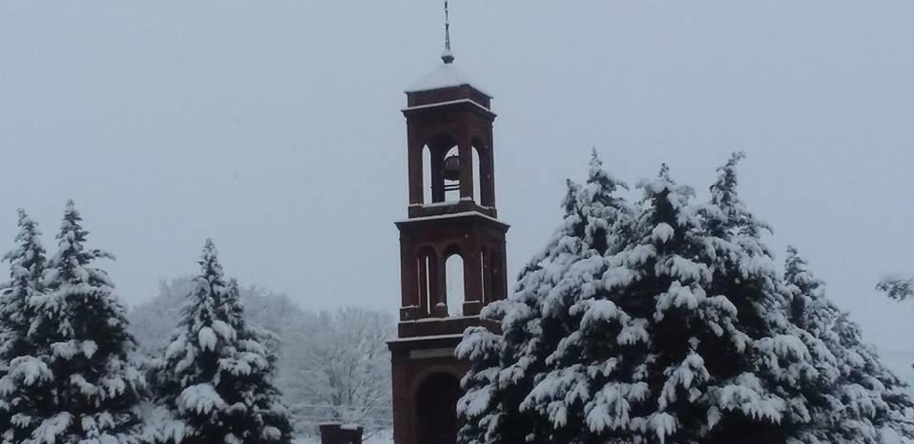 Bell Tower in the snow