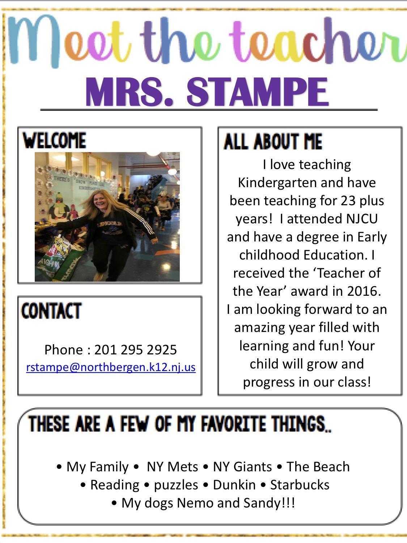 Meet Mrs. Stampe!