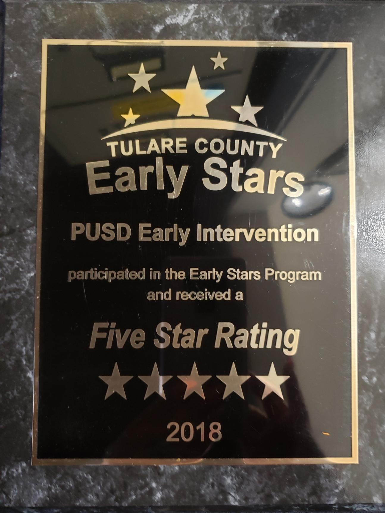 Early Stars Award for ELC