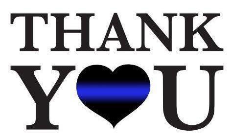 Thank yOu thin blue line