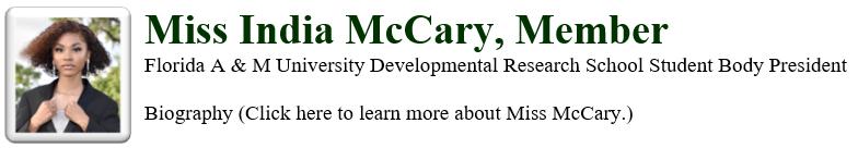 School Board Member McCary