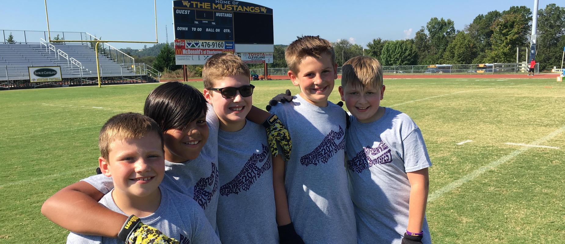 Boys at Sportsfest