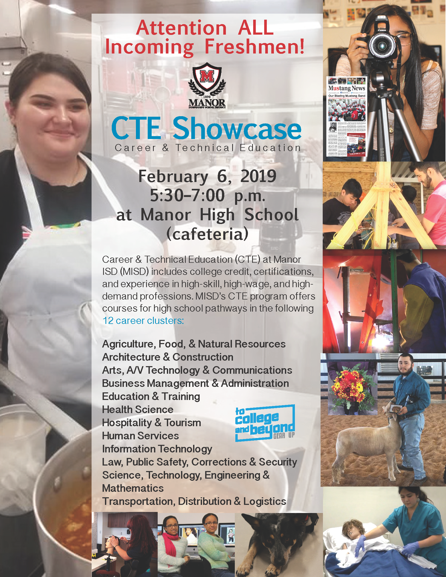 CTE Showcase Flyer for Feb. 6, 2019