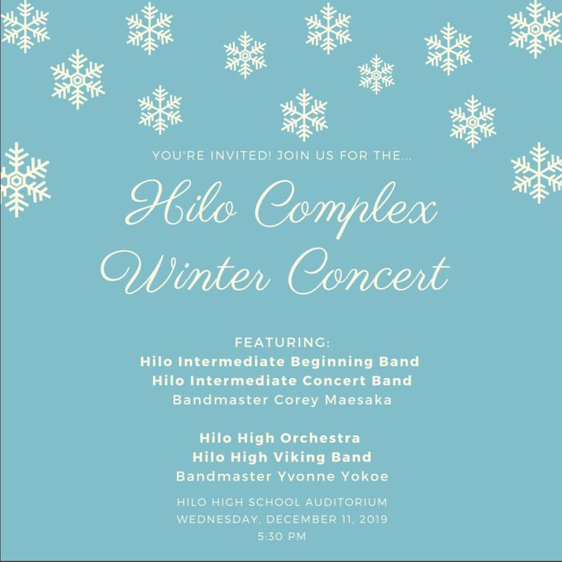 Hilo Complex Winter Band Concert Featured Photo