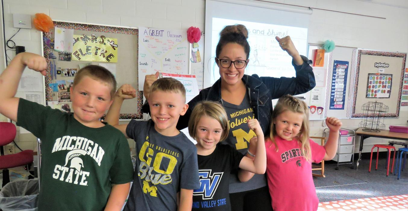 TK students are TK Strong with their college day shirts!