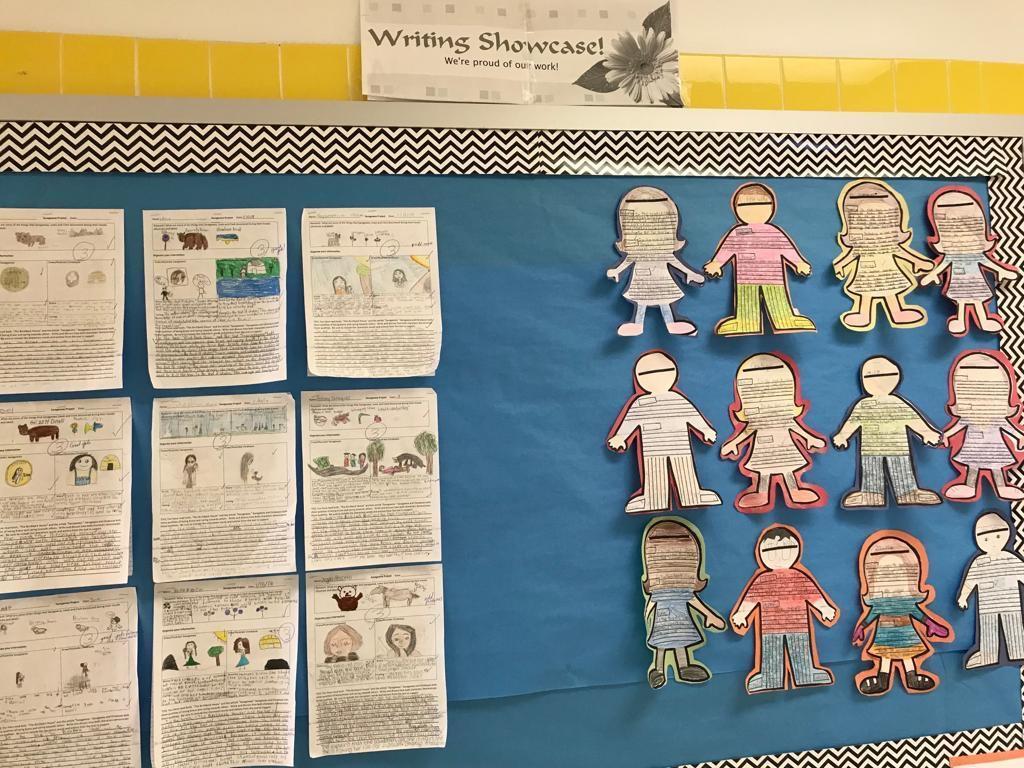 writing showcase bulletin board display