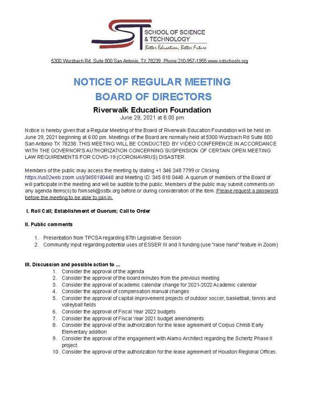 Board Meeting Agenda - June 29 Featured Photo