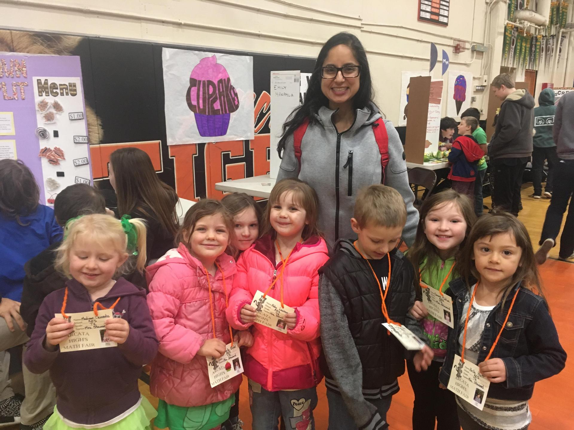 Students at Math Fair