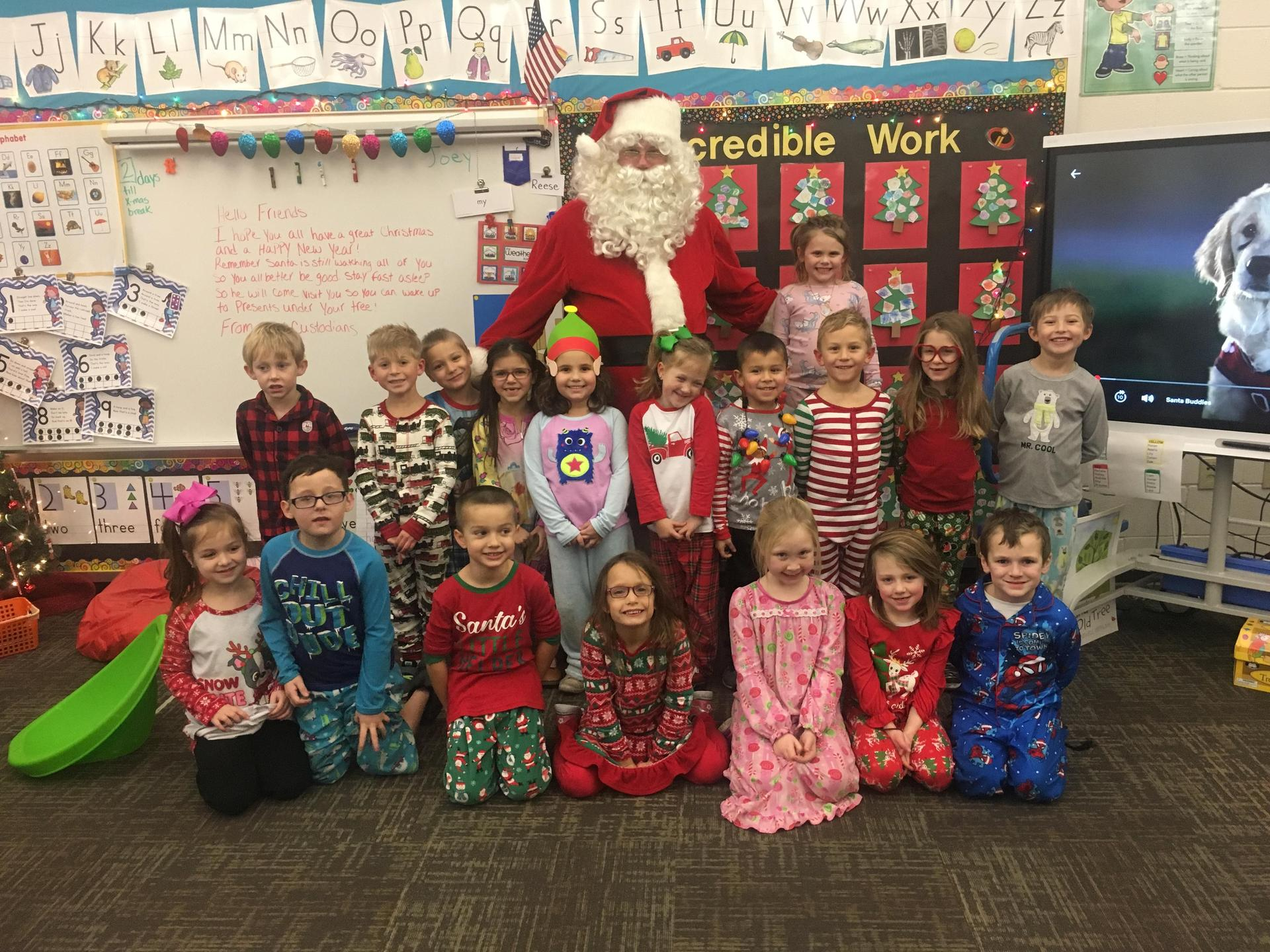 The class with Santa