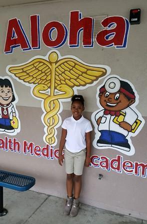 Aloha student in uniform