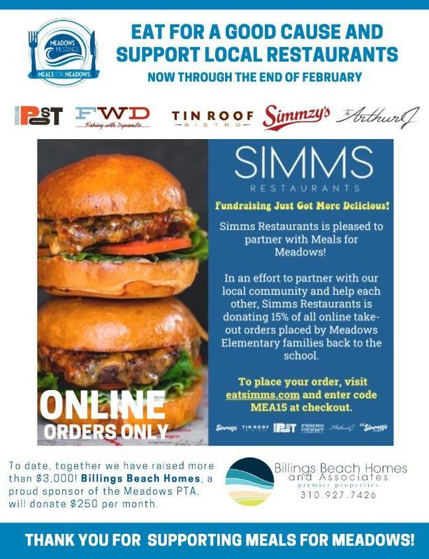 Simms Restaurants Meals for Meadows
