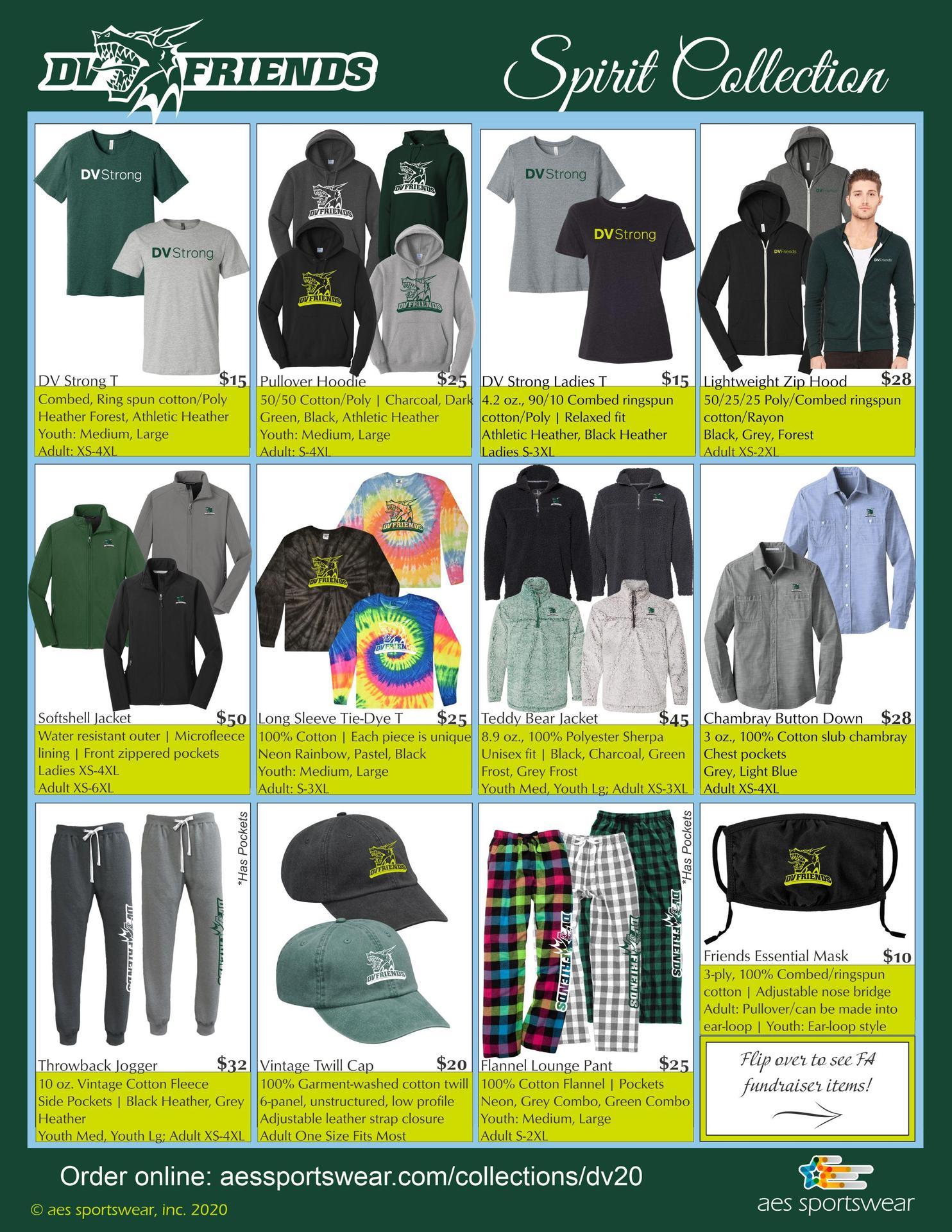 General spiritwear items
