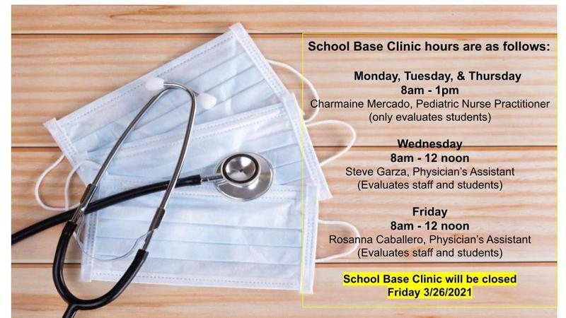 School Base Clinic Hours Featured Photo