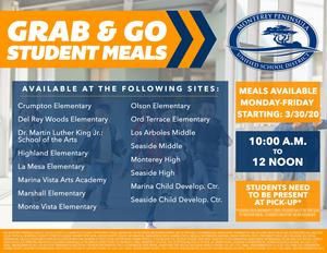 Grab and Go Meal Flyer English