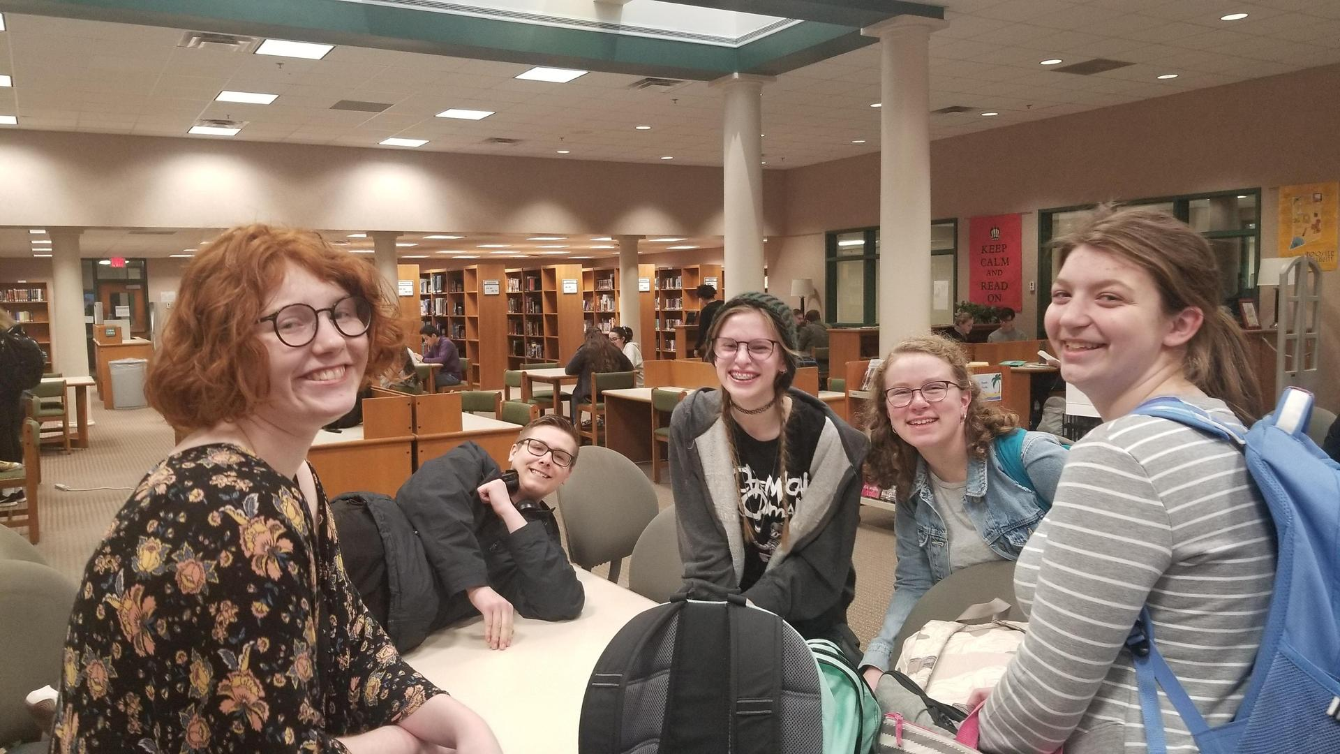 Friends in the media center