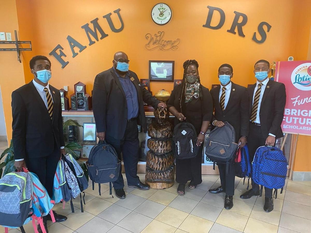 FAMU DRS would like to thank the gentlemen of Alpha Phi Alpha for their kind and generous donation of backpacks for our FAMU DRS scholars.