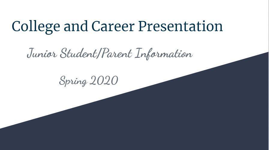 Junior Parent Presentation