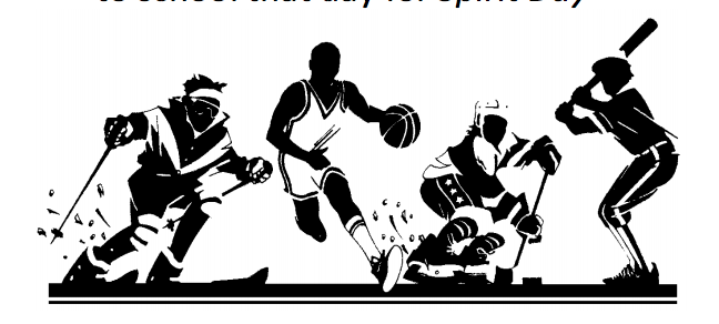 images of different sports (skiing, basketball, hockey and baseball)