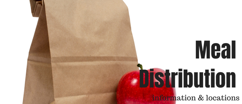 meal distribution graphic with a lunch bag and apple