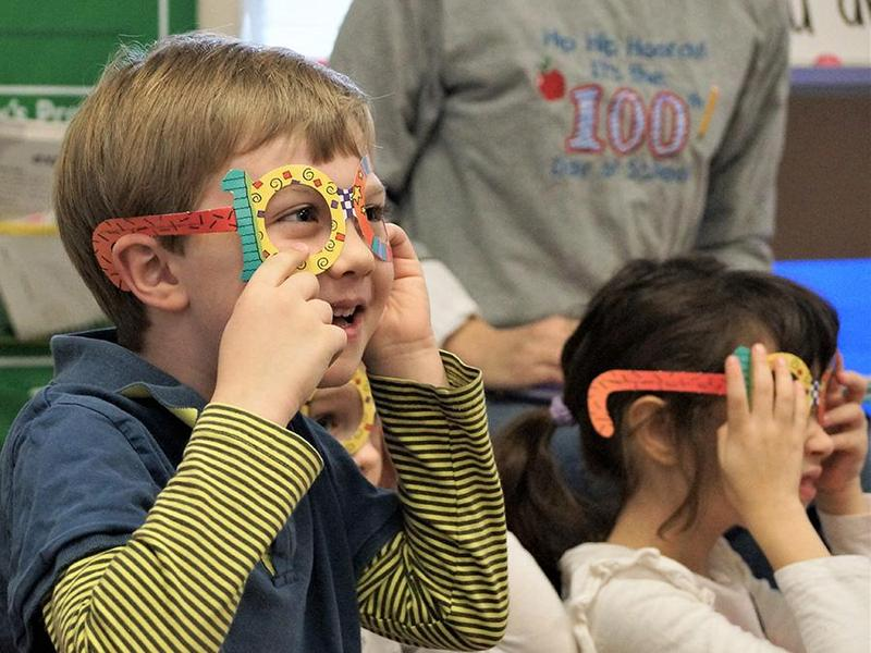 This young boy enjoyed last year's celebration of the 100th day of school.
