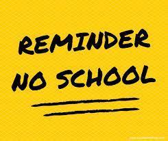 reminder no school note