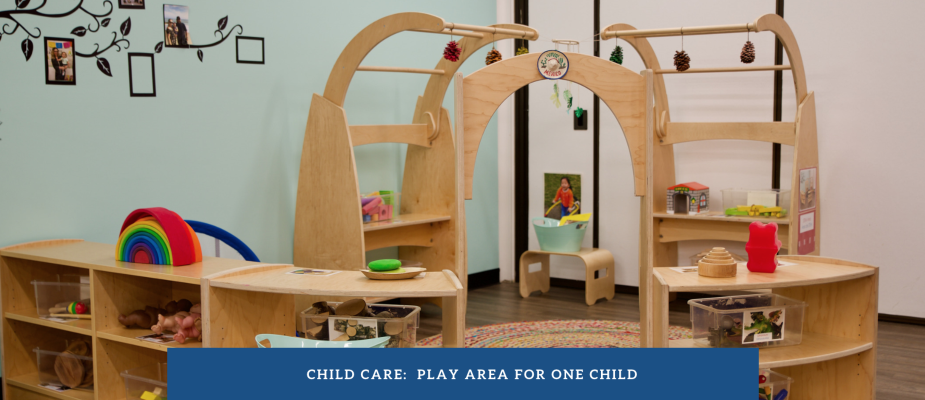 A play area for one child during Child Care at Land School